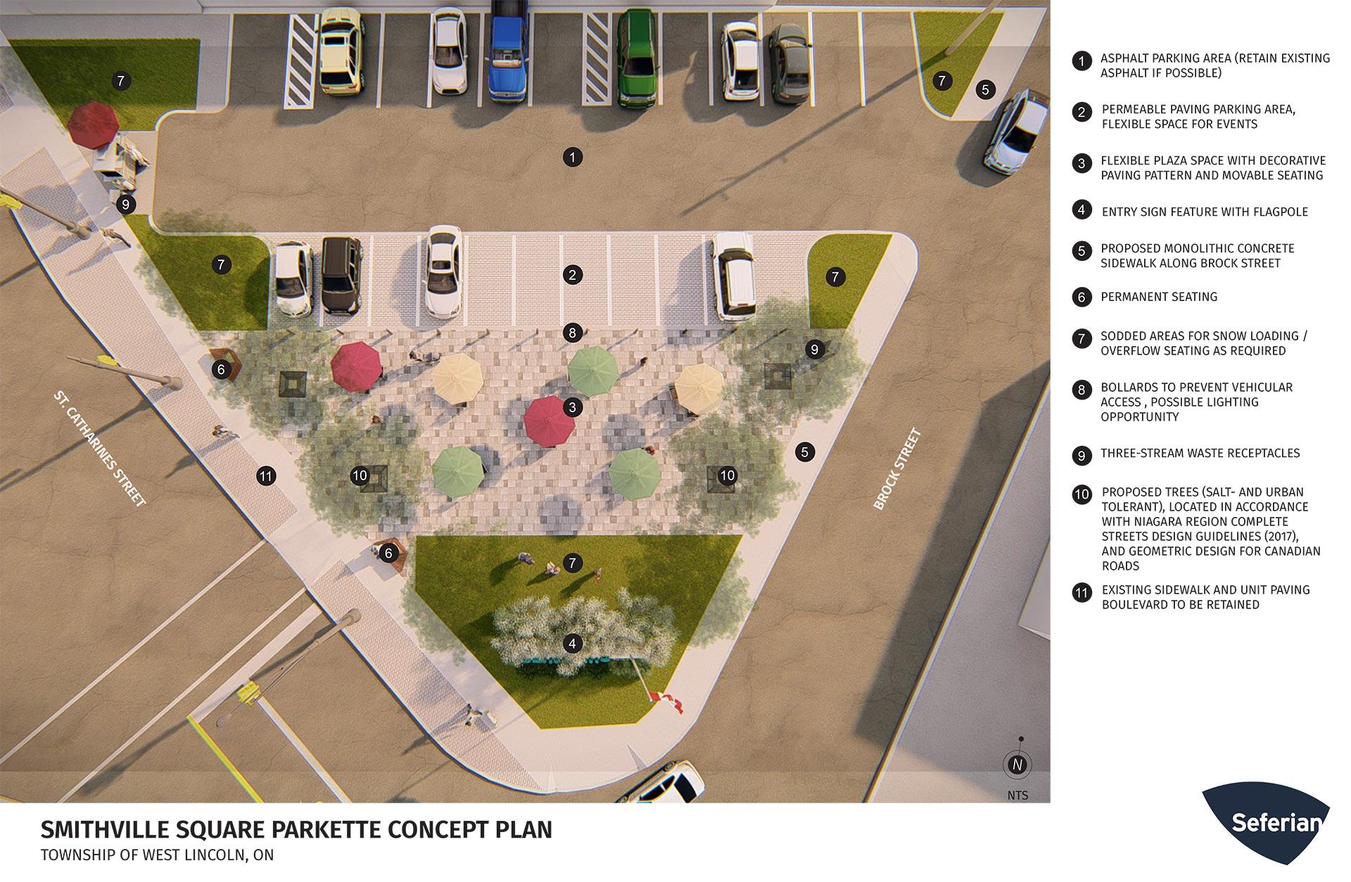 smithville square parkette concept design