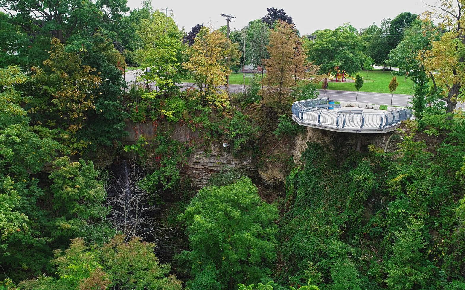 Chedoke waterfall viewing platform