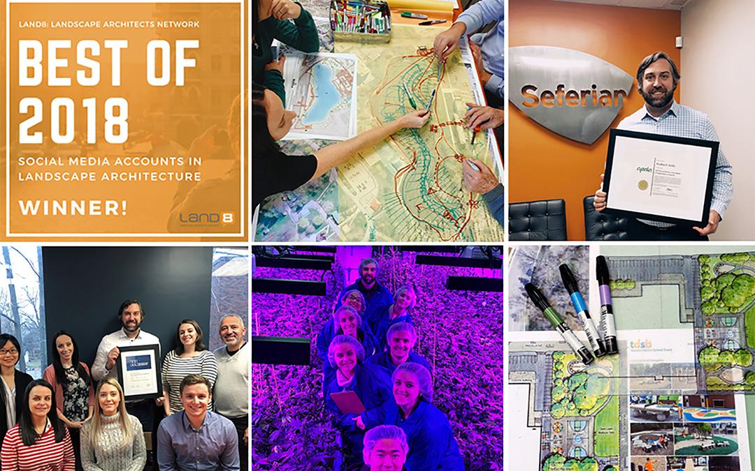land8 social media award collage