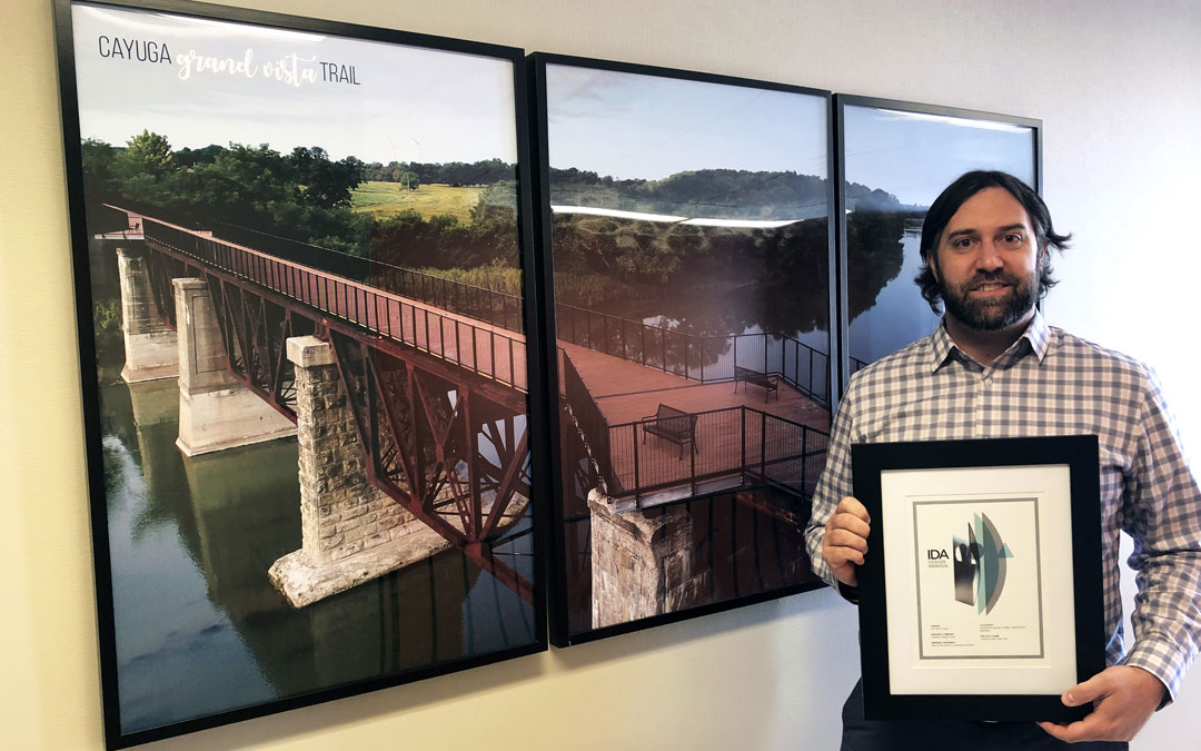 Seferian Design Group Cayuga Grand Vista Trail project received an International Design Award