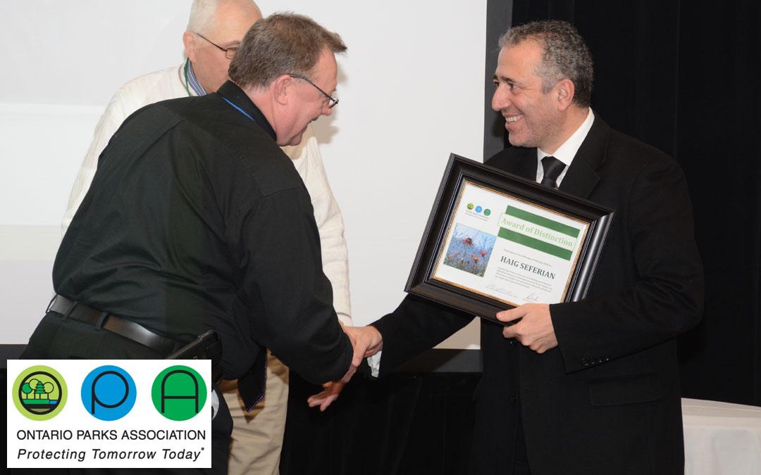 Ontario Parks Association Award of Distinction