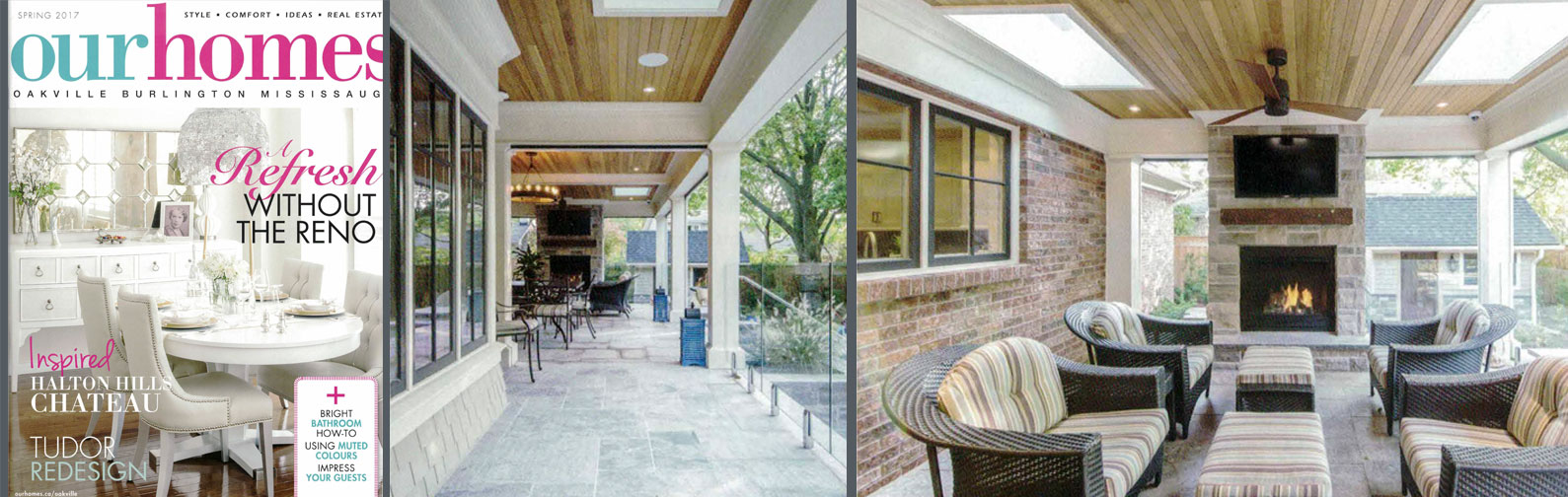 It's a classic house becoming modern - a Tudor-style home from the 80s adapting to a modern world.  Wndy and Todd Buchanan bought their Mississauga home nine years ago