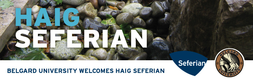 STAYING AHEAD OF THE LEARNING CURVE, is essential to growing your business, so Belgard University is offering you an opportunity with Haig Seferian to expand your hardscape knowledge.  HAIG SEFERIAN OALA, CSLA, FASLA, LO, CLD, has been extremely active in the landscape industry's many associations and is the founding member of the Certified Landscape Designer Association. Haig continues to help develop industry standards not only from the aspect of design but construction as well.