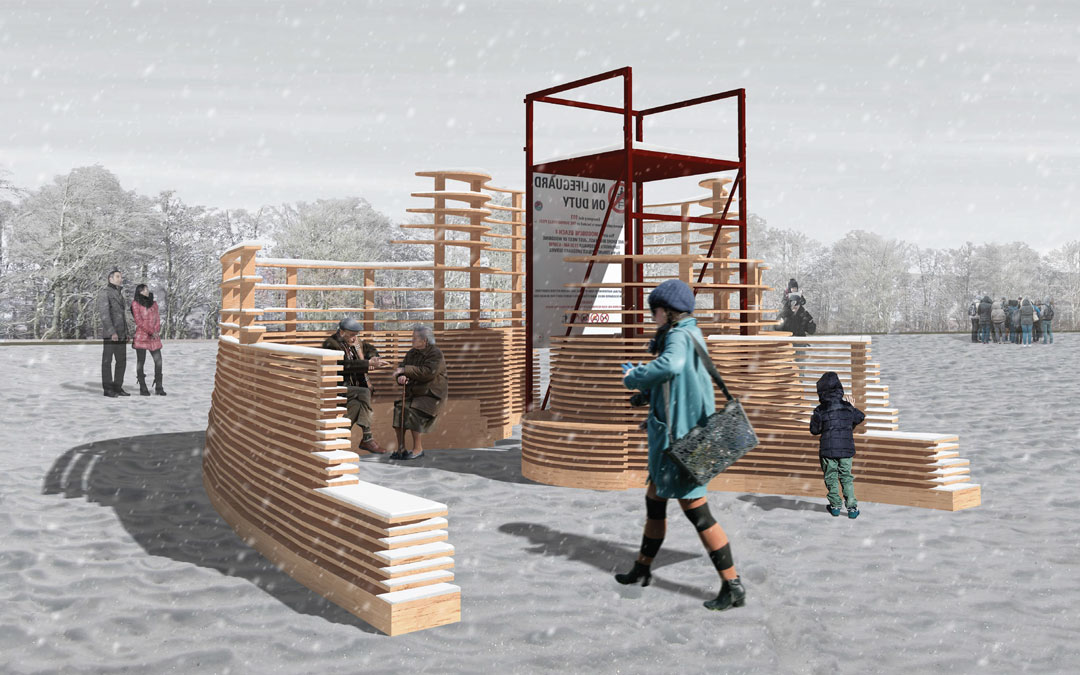 Proud sponsors of Winter Stations - Rising Up, which is being made by landscape architecture students at the University of Guelph