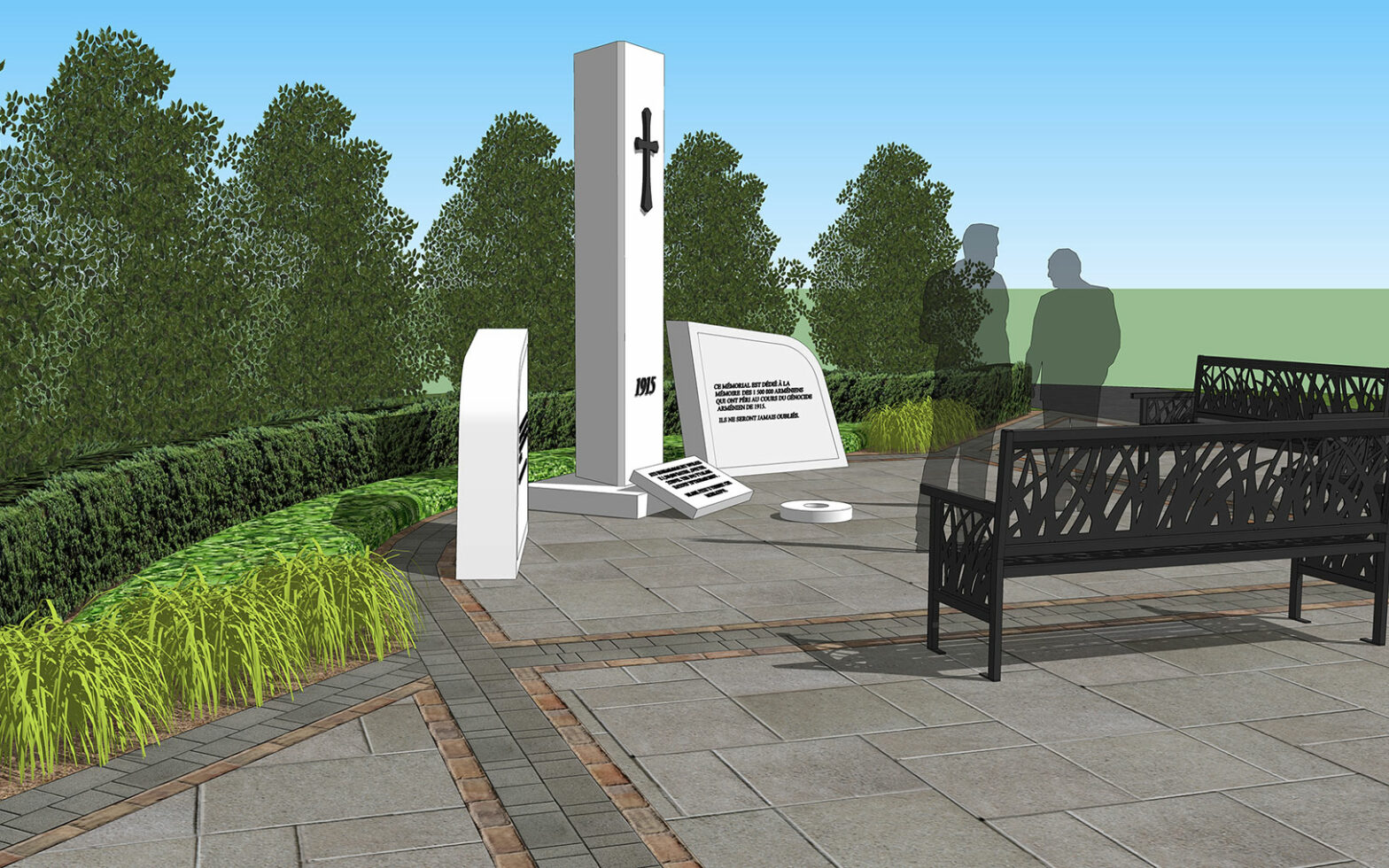 Concept Design for Armenian Memorial at Woodland Cemetery